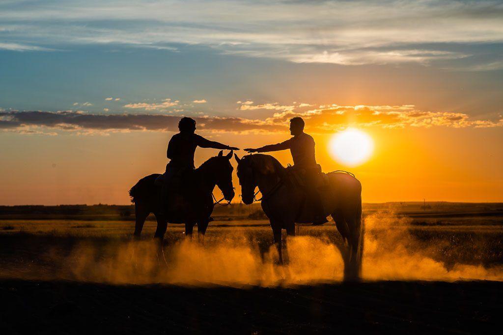 Preboda con caballos